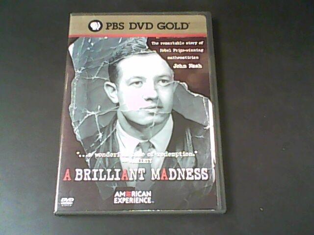 American Experience: A Brilliant Madness, Good DVD, Alicia Nash, Sylvia Nasar, Z