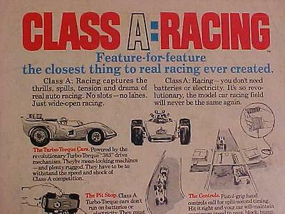 RARE VINTAGE  ~IDEAL TOYS RACE CAR SLOT CARS RACING TRACK TOY ART PRINT AD~ 1972 for sale  Shipping to India