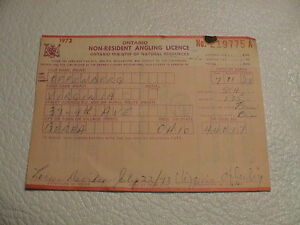 Old 1973 ontario canada natural resources non resident for Ontario non resident fishing license