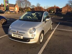 2012 Fiat 500C Convertible 1.2, Only 26,800miles, Full FIAT Serv Histry,Only 1 Owner fr New,£30Tax