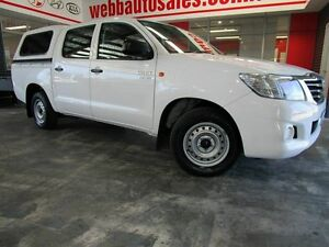 2012 Toyota Hilux GGN15R MY12 SR Double Cab White 5 Speed Automatic Utility Welshpool Canning Area Preview