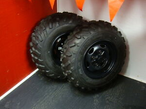 Honda TRX420PGC Maxxis M978 and M977 Tires on Rims Windsor Region Ontario image 2
