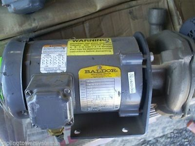 12hp Ampco Brass Centrifugal Pump W Baldor Motor Jm3460 230460v360hz