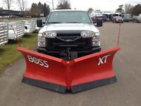 "Boss 7'6"", 8'2"" & 9'2"" Power V-XT Snow Plows"