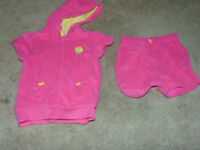 Carters 24 month terry towel coverup outfit