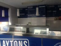 Century old established Fish & Chips shop serving locals, workers and tradesmen in Kirkham, Lanc.