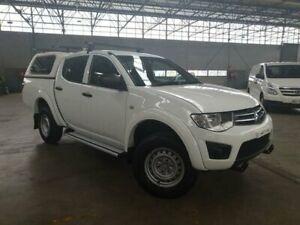2013 Mitsubishi Triton MN MY12 GLX White 4 Speed Automatic Double Cab Utility