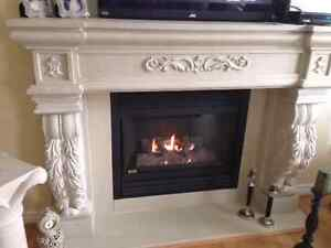 CAST STONE FIREPLACE MANTLES