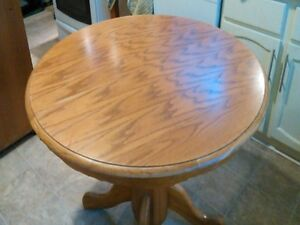 42 inch oak table with leaf