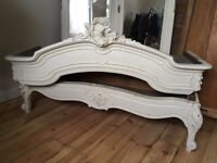 French Armoire distressed ivory . Shelves & 1 draw inside £350 ono .