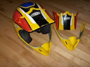 GMAX Size Large Dirt Bike or ATV Helmet with Spare Parts