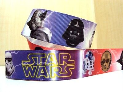 """Star Wars Ribbon 1"""" Wide 1m is only £1.29 NEW UK SELLER FREE P&P"""
