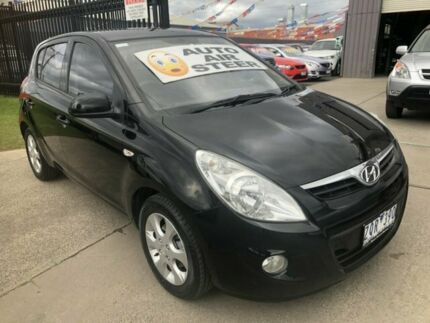 2010 Hyundai i20 PB MY11 Elite Black 4 Speed Automatic Hatchback Brooklyn Brimbank Area Preview
