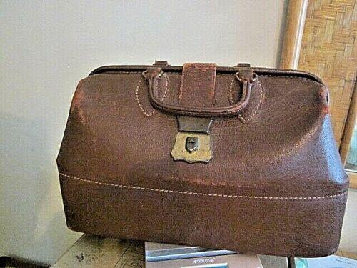 Antique Schell Leather Dr. Tool Duffle Messenger 1921 Bag Pat. Nov 15