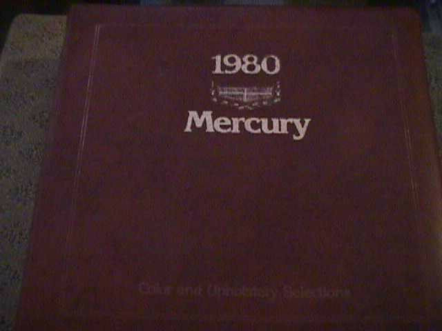 SCARCE 1980 MERCURY DEALER COLOR AND UPHOLSTERY SHOWROOM ALBUM