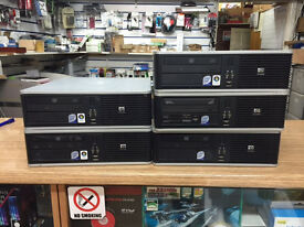 HP Compaq Dc7800p SFF Core 2 Quad 2.50GHz 4GB Ram 160GB HDD Win7 PC