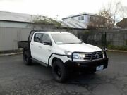 2016 Toyota Hilux GUN126R SR (4x4) White 6 Speed Automatic Dual Cab Chassis Newtown Geelong City Preview