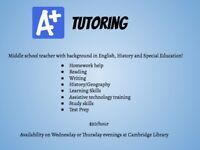 Tutoring! Help improve your child's Report Card!