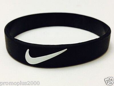 low priced 4b828 9c4fa Nike Sports baller silicone wristband blk wht logo - Buy 3 Get 2 Free !