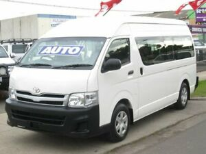 2013 Toyota HiAce TRH223R MY12 Commuter High Roof Super LWB White 4 Speed Automatic Bus Altona North Hobsons Bay Area Preview