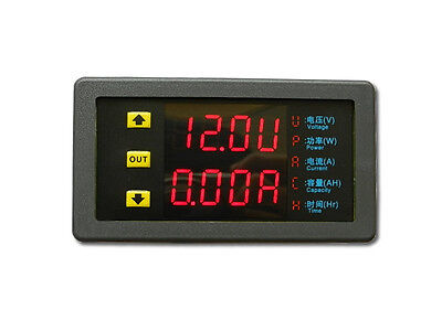 Dc 10v90v 20a Dual Led Digital Voltmeter Ammeter Voltage Amp Power Meter 12v