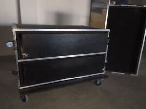2 Drawer Rolling Road Case