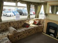 CENTRAL HEATED STATIC CARAVAN FOR SALE, 3 BEDROOMS NR SCARBOROUGH - 12 MONTH PARK - BEACH ACCESS