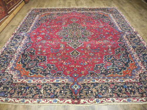 Ca1950 Vgetabel Dy Super Fine Classic  Persian Amoghli Mashad(mashhad)10x10 Rug