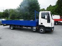 """2010 7.5 ton Iveco Eurocargo 75E 18 21ft 6"""" dropside Euro 5"""