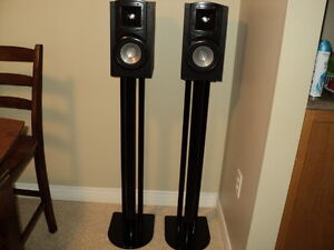 klipsch synergy speakers with metal stands