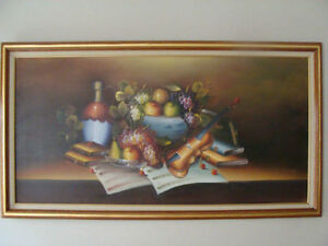 Large art framed oil painting