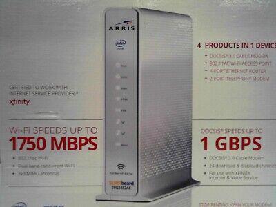Arris SVG2482AC 1750 Mbps 4-Port Internet, Wi-Fi, Voice Modem
