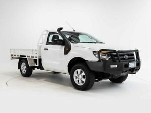 2014 Ford Ranger PX XL 3.2 (4x4) White 6 Speed Manual Cab Chassis Cooee Burnie Area Preview