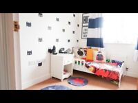 Children's bed toddler bed white wood Ipswich
