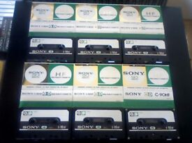 SONY HF CASSETTE TAPES 1972 - 1987. BATCH A OF OCTOBER SALE. NUMEROUS BRANDS, TYPES, LENGTHS OFFERED