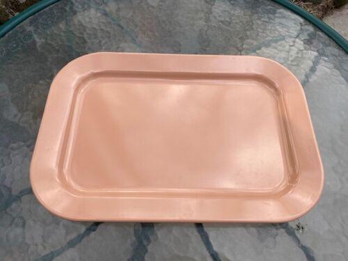 Vintage USED Dallas Ware Melamine Pink serving tray #142