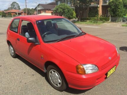 1998 Toyota Starlet EP91R Life Red 3 Speed Automatic Hatchback