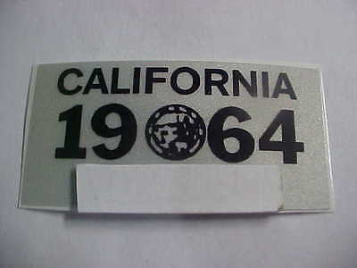 1964 california license plate registration yom sticker for the 1963 plates