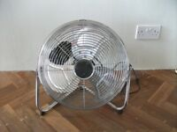 Robert Dyas 14 Inches Chrome High Velocity Industrial 3 Speed Freestanding Fan