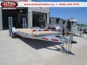 20' EQUIPMENT TRAILER - GALVANIZED - WILL NOT RUST CANADIAN MADE