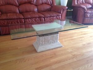 Set of 3 glass tables for sale