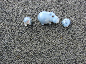 3 x pcs set Hippo porcelain collection
