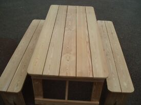 Hand made bench and seats