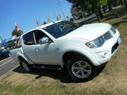 2014 Mitsubishi Triton MN MY14 Update GLX-R (4x4) White 5 Speed Manual 4x4 Double Cab Utility