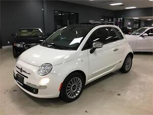2013 FIAT 500 Lounge*AUTOMATIC*LEATHER *ROOF*CERTIFIED&E-TESTED