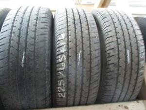 225/654R16 SET OF 3 MATCHING USED FIRESTONE A/S TIRES