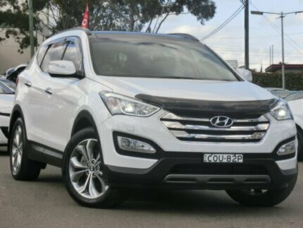 2013 Hyundai Santa Fe DM Highlander CRDi (4x4) White 6 Speed Automatic Wagon Condell Park Bankstown Area Preview