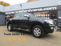 2014 Ford Ranger Limited 3.2TDCi 4x4 D/Cab Pick Up *FULLY LOADED* Diesel black M