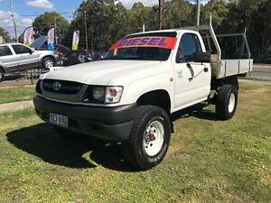 2003 Toyota Hilux LN167R (4x4) White 5 Speed Manual 4x4 Cab Chassis Clontarf Redcliffe Area Preview