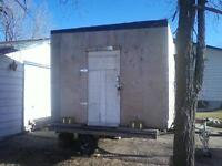 FISHING SHACK INCLUDES UTILITY TRAILER